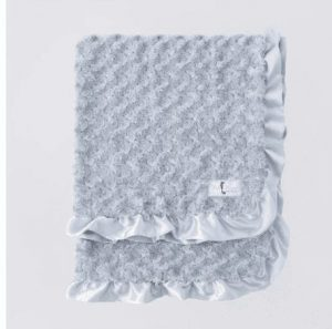 Baby Ruffle Dog Blanket in Silver