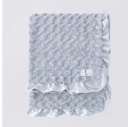 Baby Ruffle Dog Blanket in Silver