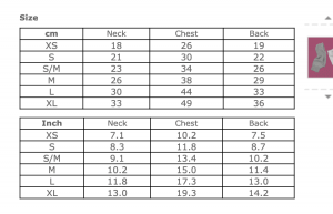 Hoodie Cashmere Size Chart