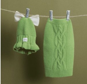 cable sweater by louisdog in green