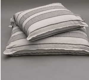 Linen Stripes Cushion Dog Bed