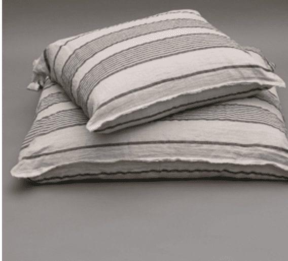 Linen Stripes Cushion Dog Bed