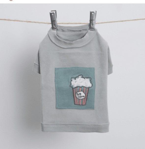Applique Dog T-Shirt in Ambrosia