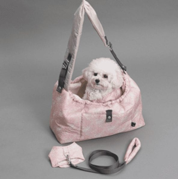 winter magic reversible dog carrier in liberty fabric