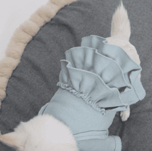 mint fleece blouse