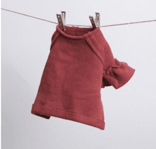 rouge fleece dog blouse
