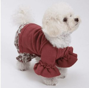 rouge fleece dog blouse