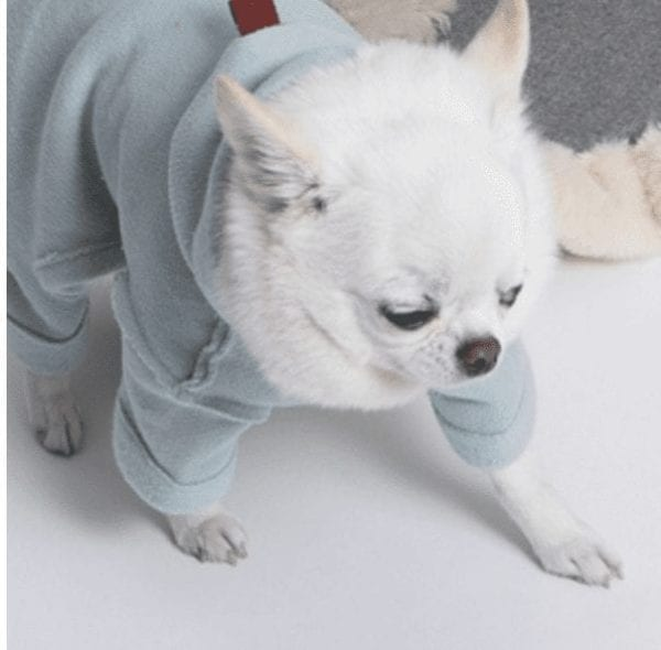 fleece romper by louisdog in mint