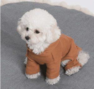 fleece romper by louisdog in orange