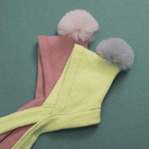 fleece pompom hat