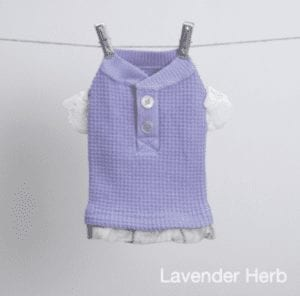 Waffle Frill Tee in lavender