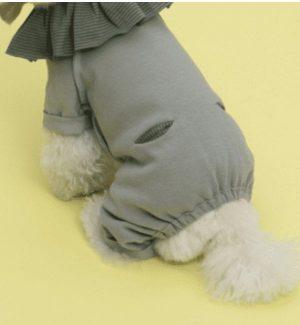 Oscar Dog Romper by Louisdog in Grey