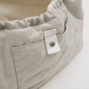Irish Linen Dog Sling Bag Dog Carrier in Natural Linen