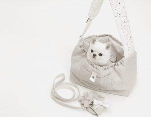 Irish Linen Dog Sling Bag in Natural Linen
