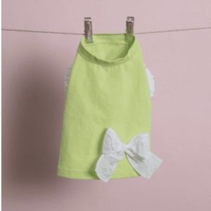 Ribbon Sleeveless Dog Tee in Sunny Lime