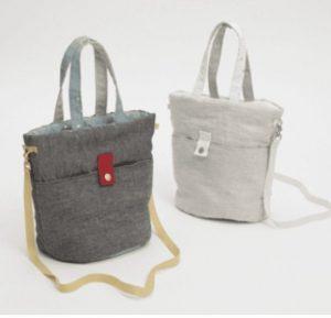 irish linen walking bag