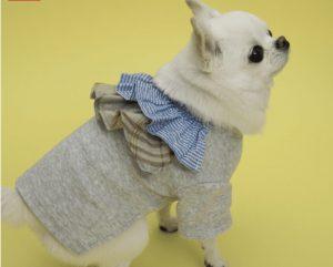 flutter dog shirt in gray