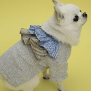 flutter dog shirt in gray