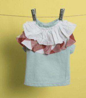 flutter dog shirt in mint