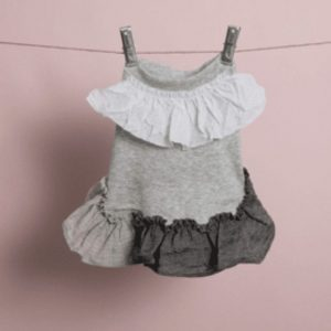 Linen Ruffle Dog Dress