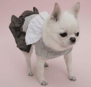 Linen Ruffle Dog Dress