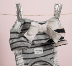Sweet Frills Dog Shirt in Grey/Cream