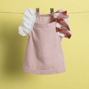 flutter sleeveless dog shirt in heavenly pink