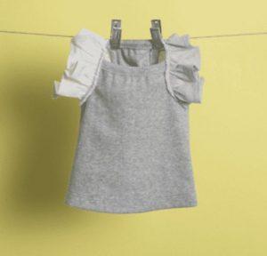 flutter sleeveless dog shirt in melange grey