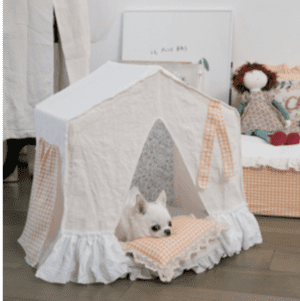BOHO Peekaboo Dog Bed in Blush