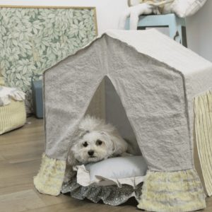Natural BOHO Peekaboo Dog Bed