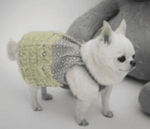 ShaSha Dog Dress in yellow