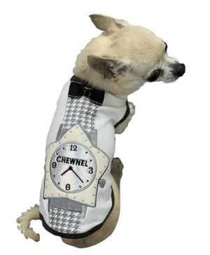 White Chewnel Star Dog Tank