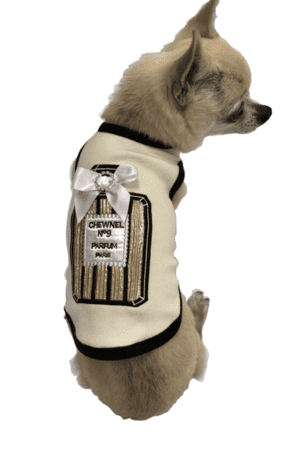 Gold Chewnel Perfume Dog Tank