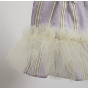 Maldives Linen Dog Dress with a Tutu