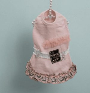 Wappan Dog Dress Couture in Pink