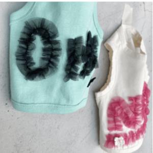organic vibes sleeveless dog shirt