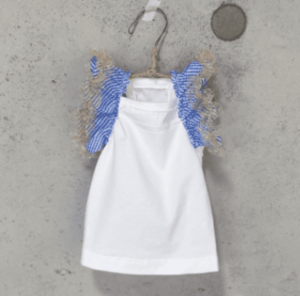 flutter sleeveless organic dog t-shirt
