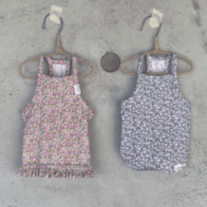 floral sleeveless dog tee