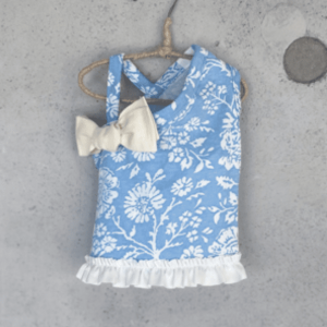 Floral 1 Shoulder Ribbon Dog Tee