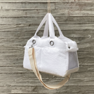 Dog Tote Bag in Blanc