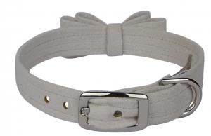 big bow dog collar
