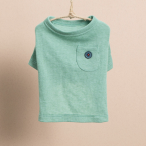 pocket n button dog t-shirt