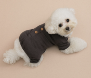 Button Dog Romper