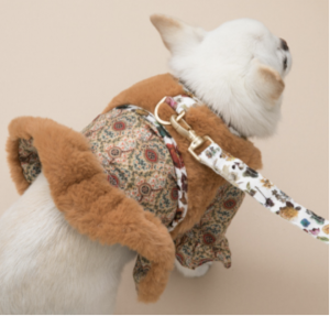 fur dog harness set