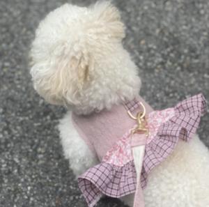 Tweed Frill Dog Harness