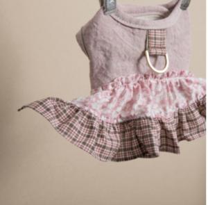 Tweed Frill Dog Harness Set