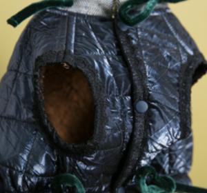 velvety heart dog vest