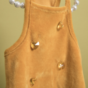 Velvety Sleeveless Dog Dress