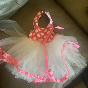 clearance pink polka dot tutu dog dress