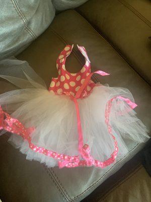 clearance pink polka dot tutu dog dress